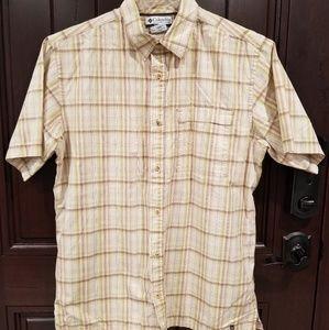 Columbia Men's Large Button Front Shirt Plaid